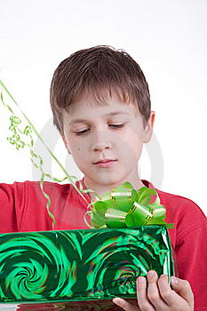 The Boy Has Received A Gift Stock Photography - Image: 16795052