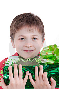 The Boy Has Received A Gift Stock Photo - Image: 16795080