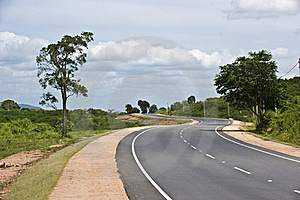 S Shaped Road Royalty Free Stock Photography - Image: 16796747