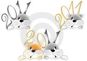 Rabbit And Cat Royalty Free Stock Images - Image: 16796759