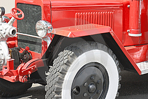 Red Vintage Fire Truck Royalty Free Stock Image - Image: 16797476