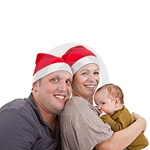 Baby Girls First Christmas Time Stock Photo - Image: 16798000