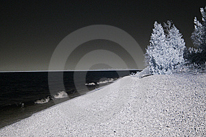 Infrared Shoreline Royalty Free Stock Photo - Image: 16799105