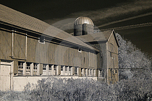 Old Barn In Infrared Royalty Free Stock Photography - Image: 16799137
