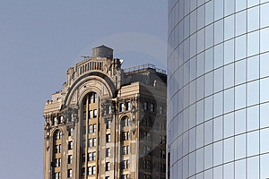 Old And Modern Office Bulding Royalty Free Stock Photos - Image: 1681448