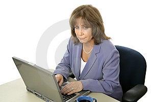 Female Executive Working Late Stock Photo - Image: 1683070