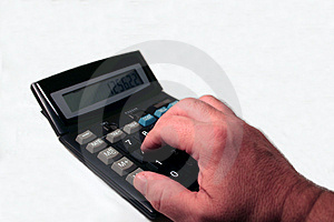 Hand At The Calculator Stock Photo - Image: 1686610