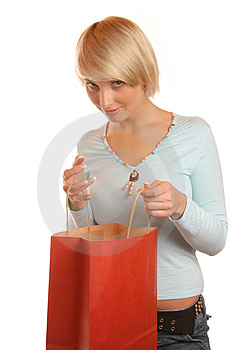 What Is Inside The Bag? Royalty Free Stock Image - Image: 1688726