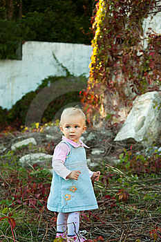 Beautiful Baby Girl In Summer Royalty Free Stock Images - Image: 16800379