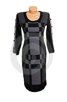 Luxury  Modern Grey  Dress. Stock Photos - Image: 16805973