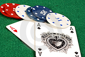 Ace Of Hearts And Ace Of Spades Royalty Free Stock Photo - Image: 16806255