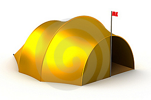 Tourist Tent Isolated On White Stock Photos - Image: 16806453