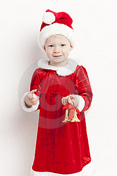 Little Girl As Santa Claus Stock Photography - Image: 16806532