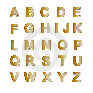 Alphabet De Plaque En Laiton Images stock - Image: 16807604