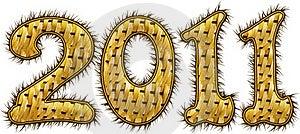 2011 Con Pelliccia Fotografie Stock Libere da Diritti - Immagine: 16807608