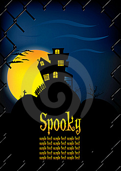 Spooky House Background Template Royalty Free Stock Image - Image: 16808206