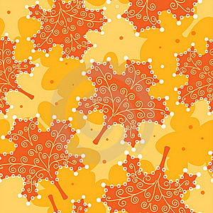 Seamless Pattern Yellow Leaves. Stock Photography - Image: 16808692