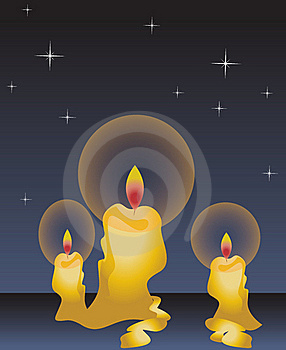 Candles At Night Stock Images - Image: 16809034