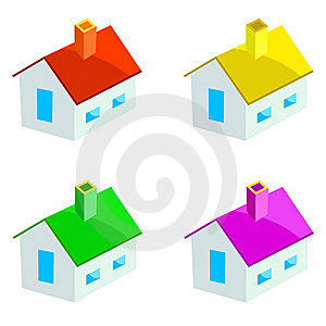 Multicoloured Houses Royalty Free Stock Photo - Image: 16810205