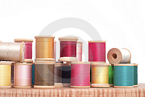 Spools Of Thread Stock Image - Image: 16814491