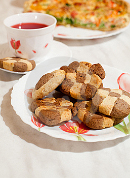 Сookies And Cup Of Hibiscus Tea Stock Photography - Image: 16815442