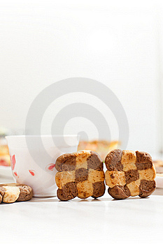 Сookies And Cup Of Hibiscus Tea Stock Photos - Image: 16815443