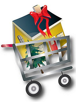 House In Shopping Cart Royalty Free Stock Photography - Image: 16816197