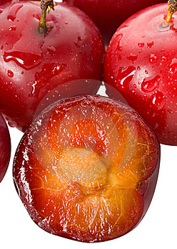 Wet Ripe Plums Royalty Free Stock Photo - Image: 16816915