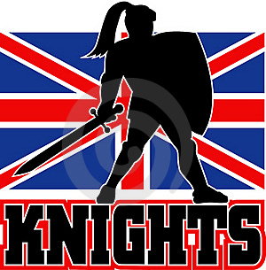 British Flag Knight Sword Shield Stock Images - Image: 16817474