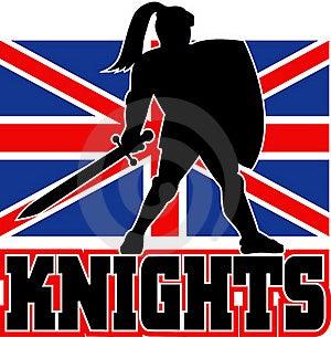 British Flag Knight Sword Shield Stock Images - Image: 16817474