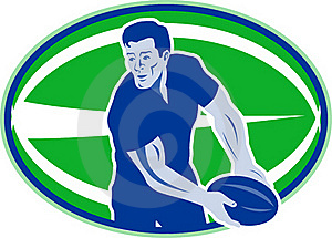 Rugby Player Passing Ball Stock Photos - Image: 16817483