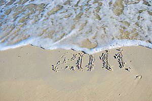 Inscription On Sand Royalty Free Stock Photo - Image: 16817755