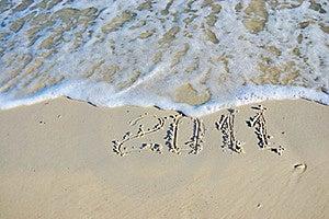 Inscription On Sand Royalty Free Stock Photo - Image: 16817755