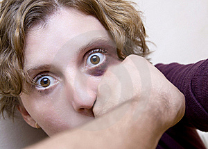 Victim of aggression Royalty Free Stock Photography