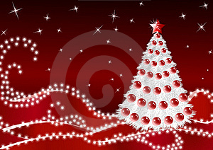 White Firtree On Claret Background_14 Stock Photos - Image: 16820903