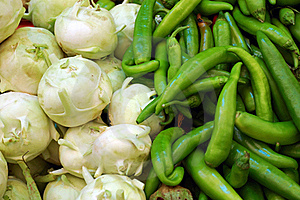 Close Up Of Kohlrabi And  Capsicum Royalty Free Stock Images - Image: 16821409