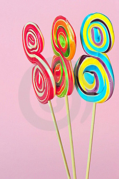 Sweet Colorful Lollipops Royalty Free Stock Photos - Image: 16821988