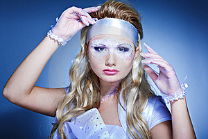 Creativity Make-up With Stylish Hairstyle Stock Photos - Image: 16822343