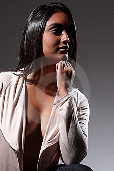 Sexy Fashion Model Head Turned Away In Sultry Pose Stock Photos - Image: 16822703