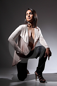 Voluptuous Fashion Model In Sultry Sexy Pose Stock Images - Image: 16822904