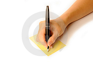 Writing Hand Royalty Free Stock Images - Image: 16823649