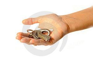 Human Hand Holding Keys Stock Photos - Image: 16823673