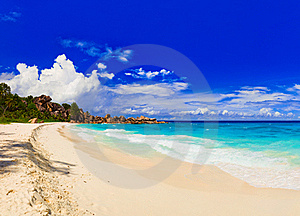 Panorama Of Tropical Beach Stock Image - Image: 16824881