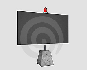 Billboard With Flasher Stock Images - Image: 16829714