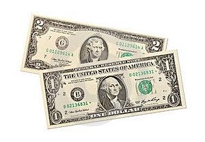 Dollar Notes On White Background Stock Photo - Image: 16831570