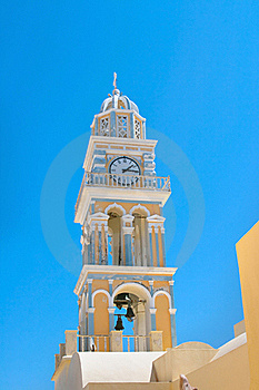 Clock Tower In Santorini Stock Photography - Image: 16832522