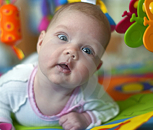 Beautiful Baby With Toys Royalty Free Stock Images - Image: 16833579