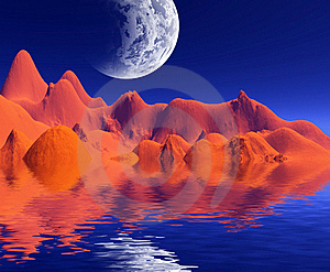 Colorful Space Landscape Royalty Free Stock Photo - Image: 16835465