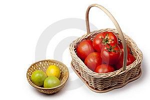 Tomato And Lemon Basket Stock Images - Image: 16835654