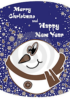 Postcard For Merry Christmas And New Year Royalty Free Stock Photo - Image: 16835665
